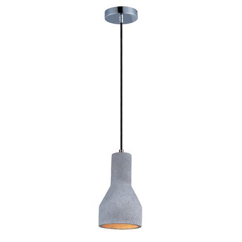 Crete Polished Chrome One-Light Ten-Inch LED Mini Pendant