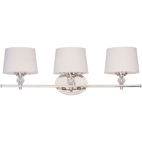 Rondo Polished Nickel Three Light Bath Fixture