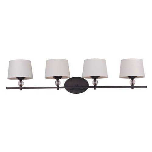 Maxim Lighting International Rondo Oil Rubbed Bronze Four Light Bath Vanity