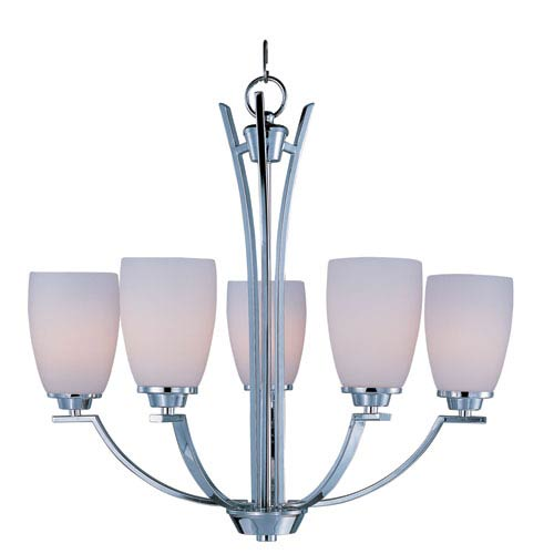 Rocco Polished Chrome Five-Light Single-Tier Chandelier