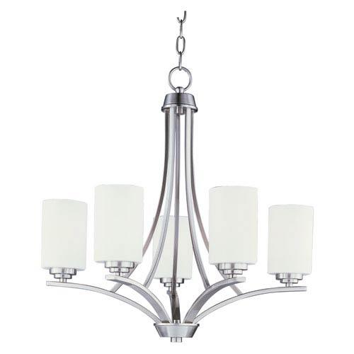 Maxim Lighting International Deven Satin Nickel Five-Light Single-Tier Chandelier