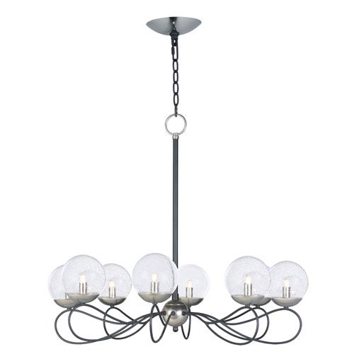 maxim lighting international reverb textured black and polished Audacity Reverb maxim lighting international reverb textured black and polished nickel eight light xenon chandelier with clear bubble glass