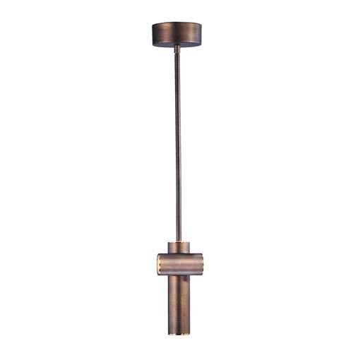Tubular LED Bronze Fusion and Antique Brass LED Mini Pendant