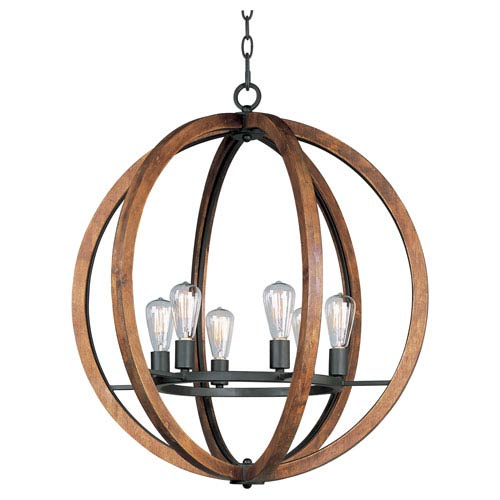 Bodega Bay Anthracite Six-Light Pendant