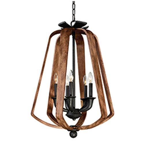 Maxim Lighting International Road House Barn Wood and Iron Five-Light Chandelier