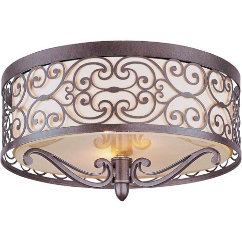 Mondrian Umber Bronze Two-Light Flush Mount