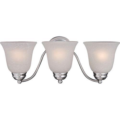 Maxim Lighting International Basix Polished Chrome Three-Light Bath Light with Ice Glass