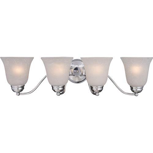 Maxim Lighting International Basix Polished Chrome Four-Light Bath Light with Ice Glass