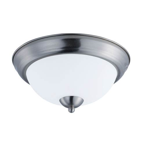 Maxim Lighting International Taylor Satin Nickel 12-Inch Two-Light Flush Mount
