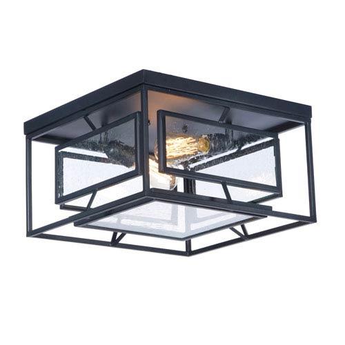 Maxim Lighting International Era Black 16-Inch Two-Light Flush Mount