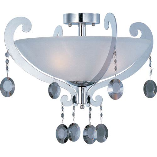 Maxim Lighting International Cyclone Three-Light Semi-Flush Mount