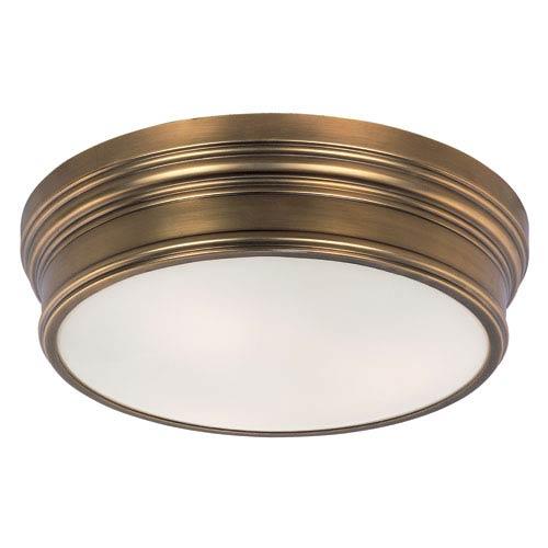 Maxim Lighting International Fairmont Natural Aged Brass Three-Light Flush Mount