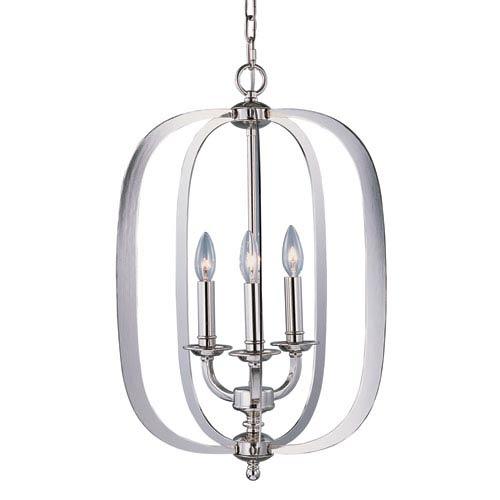 Maxim Lighting International Fairmont Polished Nickel Three Light Single Pendant