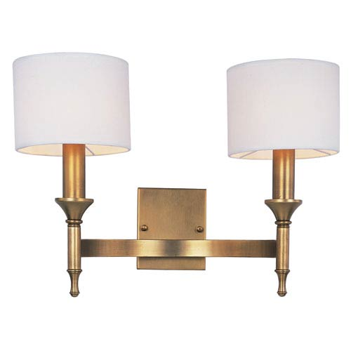 Fairmont Natural Aged Brass 18-Inch Wide Two-Light Wall Sconce