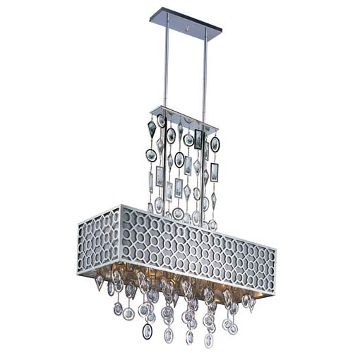 Maxim Lighting International Symmetry Polished Nickel Eight-Light Island Pendant