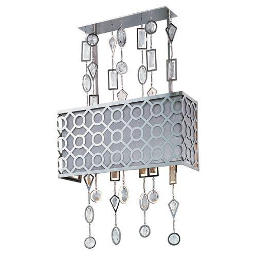 Symmetry Polished Nickel Three-Light Wall Sconce