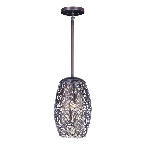 Arabesque Oil Rubbed Bronze One-Light Xenon Mini Pendant
