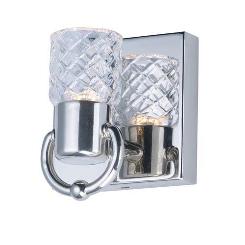 Crystol Polished Nickel LED Bath Sconce