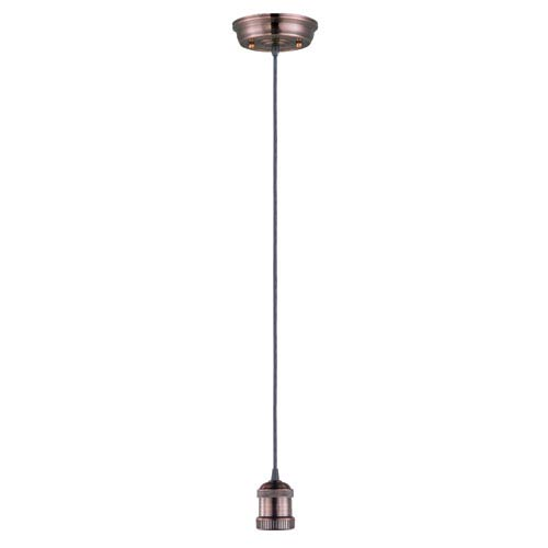 Mini Hi-Bay Antique Copper 5-Inch Wide One-Light Mini Pendant