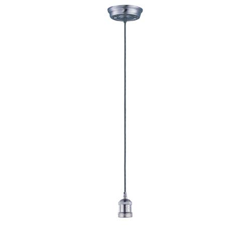Mini Hi-Bay Satin Nickel 5-Inch Wide One-Light Single Pendant