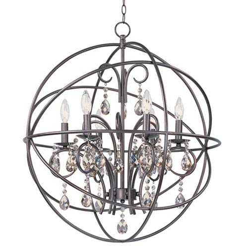 Orbit Oil Rubbed Bronze Six Light Pendant
