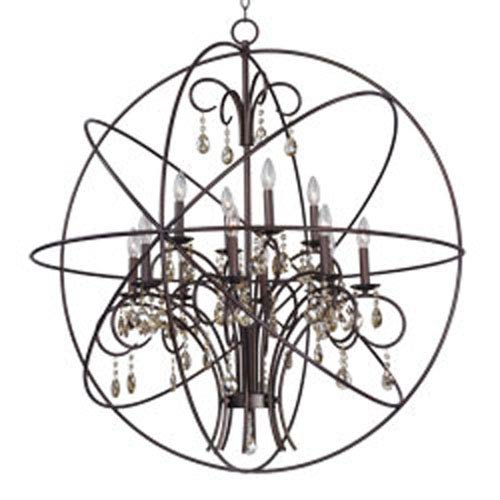 Orbit Oil Rubbed Bronze 12-Light Chandelier
