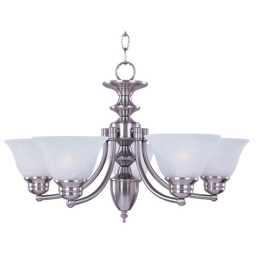 Maxim Lighting International Malaga Satin Nickel Six-Light Single-Tier Chandelier