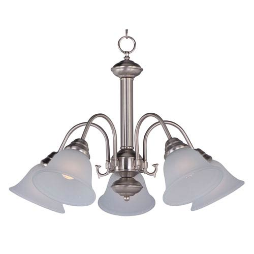 Maxim Lighting International Malaga Satin Nickel Five-Light Down Light Chandelier