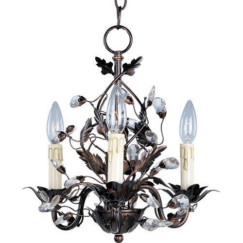 Elegante Oil Rubbed Bronze Three-Light Chandelier