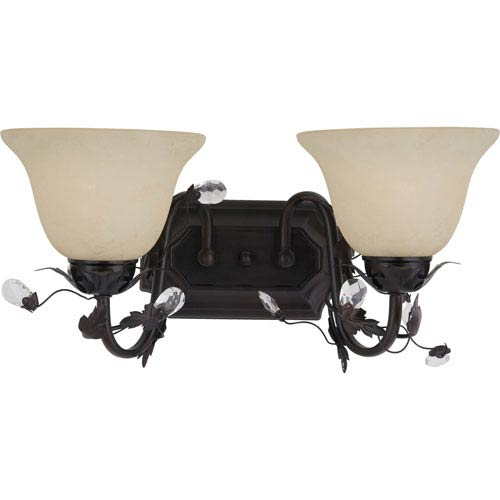 Maxim Lighting International Elegante Oil Rubbed Brozne Two-Light Bath Fixture