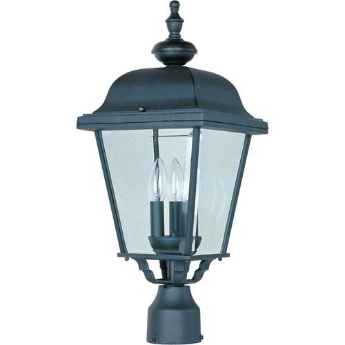 Maxim Lighting International Builder Cast Three-Light Outdoor Pole/Post Lantern