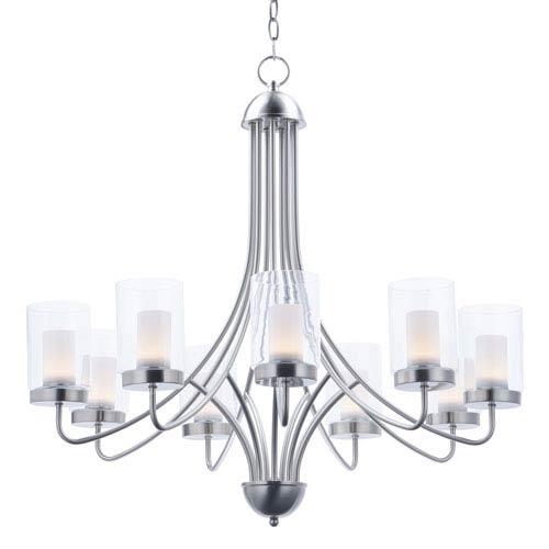 Maxim Lighting International Mod Satin Nickel Nine-Light LED Chandelier