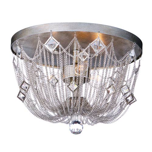 Maxim Lighting International Alessandra Silver Mist Three-Light Flush Mount