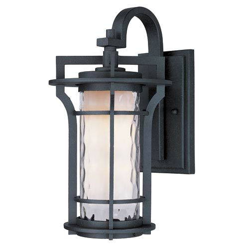 Oakville Black Oxide 10-Inch Wide One-Light Outdoor Wall Mount with Water Glass