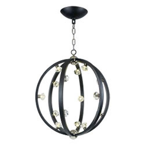 Maxim Lighting International Equinox Textured Black LED 15-Light Pendant