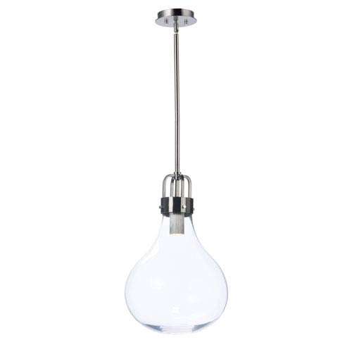 Kinetic LED Dark Satin Nickel LED Pendant