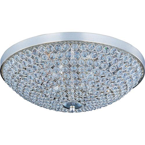 Maxim Lighting International Glimmer Plated Silver Four-Light Flush Mount