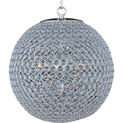 Maxim Lighting International Glimmer Plated Silver Five-Light Chandelier