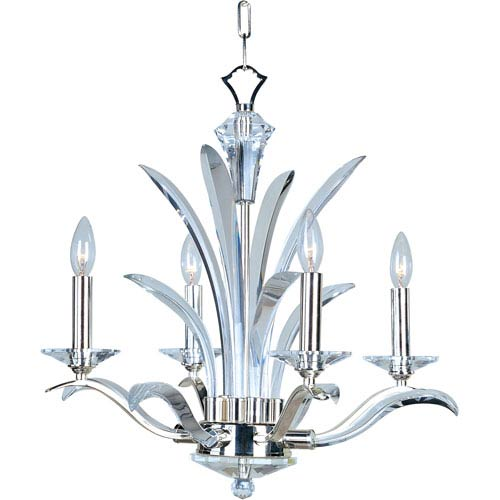 Paradise Plated Silver Four-Light Chandelier