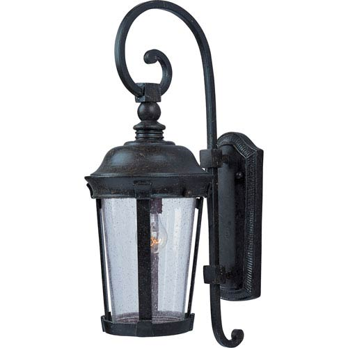 Maxim Lighting International Dover Bronze One-Light Outdoor Wall Mount with Seedy Glass