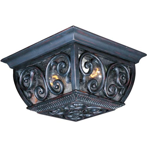 Newbury VX Oriental Bronze Two-Light Outdoor Ceiling Mount