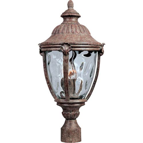 Resin durable outdoor lighting bellacor maxim lighting international morrow bay earth tone three light outdoor post light with water glass aloadofball Gallery