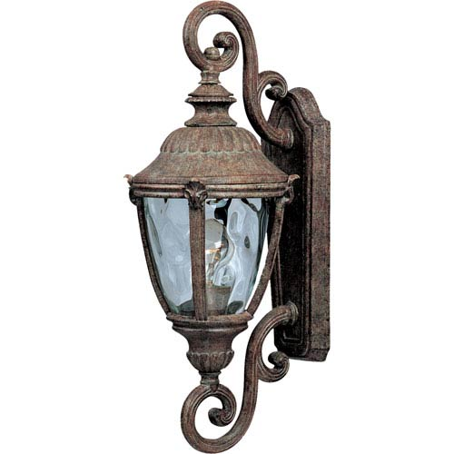 Maxim Lighting International Morrow Bay Earth Tone One-Light Outdoor Wall Mount with Water Glass