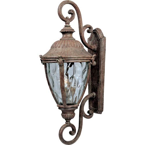 Maxim Lighting International Morrow Bay Earth Tone Three-Light Outdoor Wall Mount with Water Glass