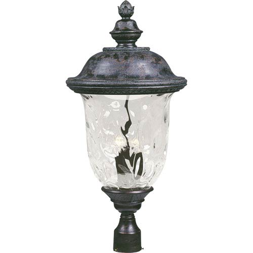 Maxim Lighting International Carriage House VX Oriental Bronze Three-Light Outdoor Post Mount