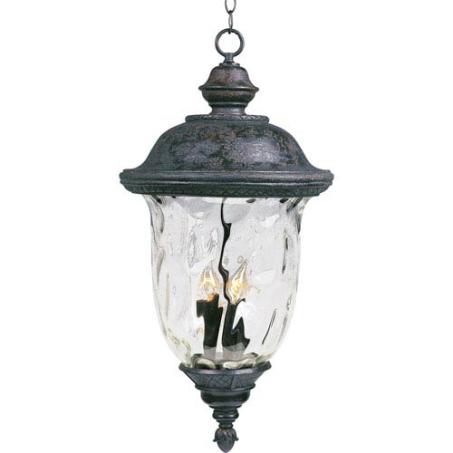 Carriage House VX Oriental Bronze Three-Light Outdoor Hanging Lantern