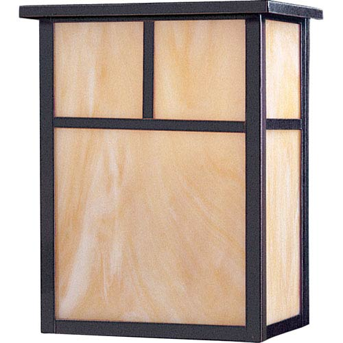 Maxim Lighting International Coldwater Burnished Two-Light Outdoor Wall Mount with Honey Glass
