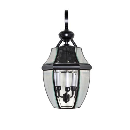 Maxim Lighting International South Park Burnished 12-Inch Wide Three-Light Outdoor Wall Mount