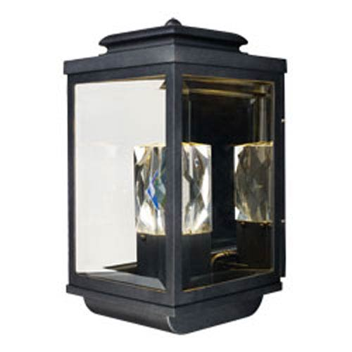 Mandeville Galaxy Black LED Two-Light Outdoor Wall Mount