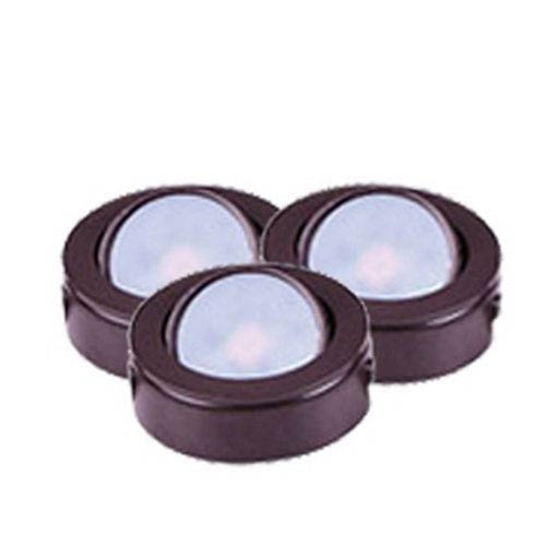 CounterMax MX LD AC Anodized Bronze 3000K LED Under Cabinet Puck Light Set  Of